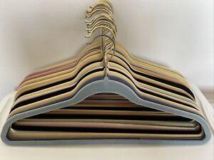 60 Pack JOY Mangano Huggable Hangers Gold & Silver Hook Assorted Colors & Styles