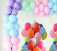 100pcs of 5 Inch Macron Pastel and Plain Latex Balloons Party Decor Small Baloon
