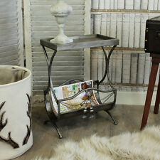 Ornate metal magazine rack côté lampe de table shabby français chic ornate vintage
