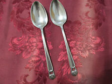 1847 Rogers Bros ETERNALLY YOURS 1941 2 serving spoons silverplate