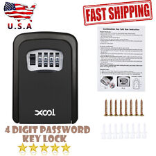 4 Digit Password Combination Key Lock Wall Mount Box Safe Security Storage Case