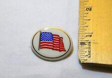 Lenox Porcelain Oval Painted Flag Brooch