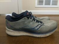 Saucony Mens Ride ISO 2 S20514-1 Gray Blue Running Shoes Lace Up Size 13