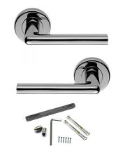 Lever on Rose Door Handles Heavy Duty Sprung Polished Chrome STANWICK 5196 Pair