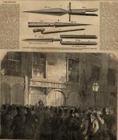 Seizure of Weapons and Newspapers Fenian Brotherhood 1865 Harper's Weekly print