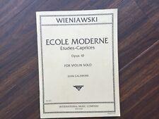 L ECOLE MODERNE ETUDES-CAPRICE  Op. 10 Wieniawski, Henryk   Violine
