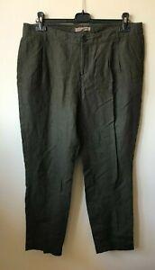 Ladies Jigsaw Linen Trousers size 16 khaki