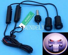 2 X New Ghost Shadow Laser Projector Logo Cree LED Light Courtesy Door for SKULL