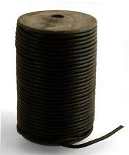 Lederband rund 4mm schwarz(1,50€-2,50€/m)  Lederschnur Lederriemen Büffelleder