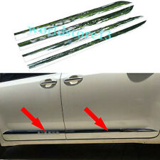 Chrome Body Side Door Molding Cover Trim Garnish For Toyota Sienna 2011-2017