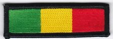 """50 Rasta (Green/Yellow/Red) Embroidered Patches 1""""x3"""""""