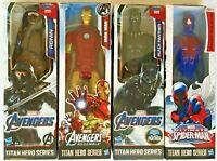 Marvel Avengers Titan Hero Spiderman Iron-man BL-Panther Ronin Action Figure T35