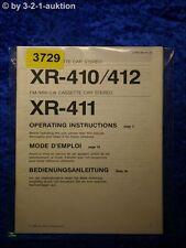 Sony Bedienungsanleitung XR 410 /412 /411 Car Stereo (#3729)