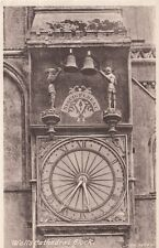 Vintage POSTCARD c1955 Wells Cathedral Clock SOMERSET, ENGLAND UK 13166