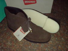 Clarks Originals Mans ** Desert Boots ** Marrone Scuro in Pelle Scamosciata ** UK 13/12.5 F