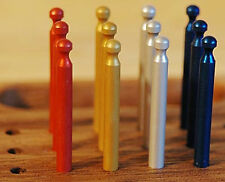 Cribbage Board Pegs - Set of 12 Cribbage Pegs, 3 each of 4 colors