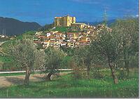 CARTOLINA SICILIA SICILY POSTCARD CASTELBUONO  VEDUTA CASTELLO E CASTELBUONO
