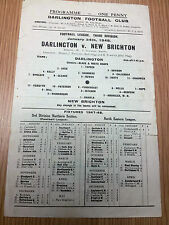 1947/48 DARLINGTON v NEW BRIGHTON