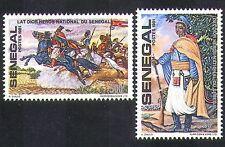 Senegal 1981 Lat Dior/National Hero/Horses/Heroes/People/Military 2v set n36584