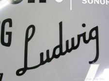 Ludwig Black Vintage 30's Logo Replacement Sticker