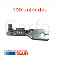 100X Terminal Faston 6,3 - 6.3 mm Macho