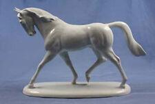 Große Pferdefigur pferd alt Porzellanfigur figur porzellan Ludwigsburg E.Holzer