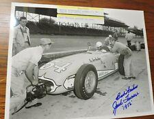 Indy 500 Jack Turner Signed 1956 8 x 10 Photo