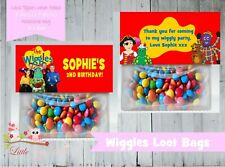 PERSONALISED BIRTHDAY LOLLY/LOOT BAG & TOPPER - THE WIGGLES