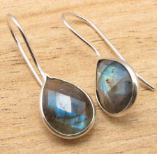 Real LABRADORITE Drop Stones Earrings 925 Silver Plated Jewelry Pack of 5 50 100