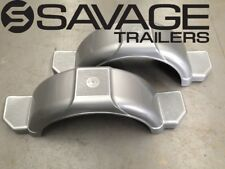"BOAT TRAILER MUD GUARDS 13"" - 1 x PAIR - SILVER GREY - AUSTRALIAN MADE"