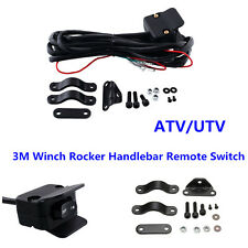 Black ATV/UTV 3M Winch Rocker Switch Handlebar Control Line Warn Accessories Kit