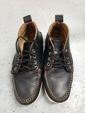 Quoddy 316 Men's Black Chukka Boots, Deck soles, size 9 Handmade in Maine
