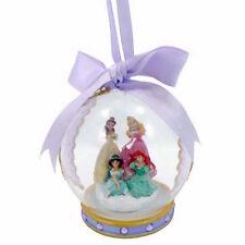 disney parks christmas ornament glass ball 4 princess purple jasmine new w tag
