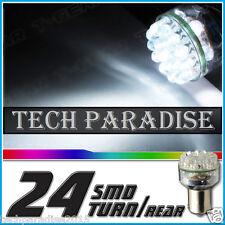 1x Ampoule 24 LED 3D 360° Bulb Blanc White feux stop P21W / BA15S / 1156 / R5W