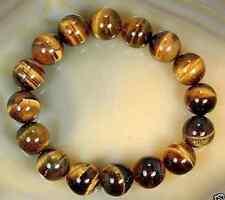 Details about  Natural 10mm African Tiger's Eye Gem Beads Bracelet 7.5
