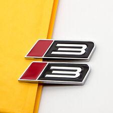 2pcs Red Amp Black Metal Roush Stage 3 Emblem Sticker Chrome Sport Badge Car Logo Fits Focus