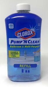 Clorox Pump 'N Clean Bathroom Refill Rain Clean 24fl oz Discontinued NEW Cleaner