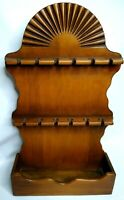 Vintage Spoon Rack Wooden Hanging Wall  Shelf for 12 Spoons