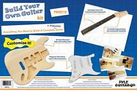 Strat Electric Guitar Kit - Build It Your Self - Unfinished - All Parts Included