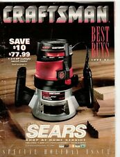 Sears craftsman power & hand tools best buys catalog 1994-95