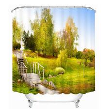 3D Flower gardens print Shower curtain waterproof fabric Window Bathroom Bathing
