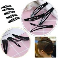 Women Kid Hair Styling Snap Hair Barrette Black Hairpin Hair Clip Christmas -