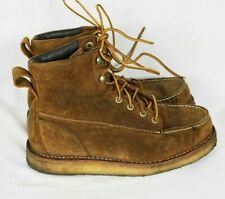 Irish Setter Red Wing Rugged BAR Suede Leather WORK HUNTING Boots Sz 9D - 3827