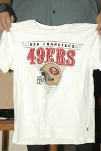 San Franisco 49ers T shirt Joe Montana era art Levi's XL near mint helmet NFL