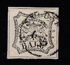 FRANCOBOLLI - 1852 STATO PONTIFICIO 8 BAJ Z/8596
