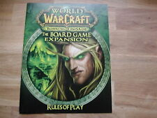 RULES OF PLAY BOOKLET THE BURNING CRUSADE /WORLD OF WARCRAFT BOARDGAME