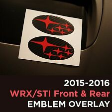 2015 2016 2017 2018 Subaru WRX / STI emblem badge logo overlay FRONT AND BACK