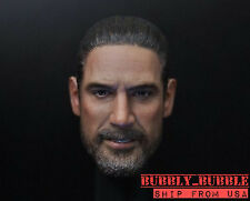 1/6 NEGAN Head Sculpt Jeffrey Morgan Walking Dead For Hot Toys SHIP FROM USA