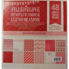 """My Mind's Eye #FWLGS1 """"Filled with Love""""  48 Sheet Paper Pad  12x12""""  NEW"""