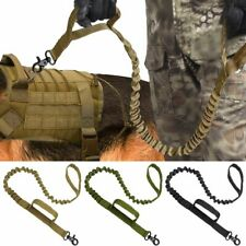 Tactical Dog Leash Nylon Bungee Leashes Pet Military Lead Belt Training Army